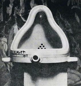 Marcel Duchamp's Fountain was a shocking piece to exhibit nearly 100 years ago. (Photo by Alfred Stieglitz/Public Domain)