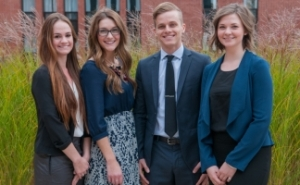 (from L to R) Erin Devine, Cait Wright, Trevor White, and Malary Schurman. (image courtesy UPEI)